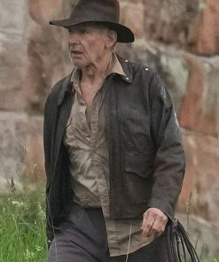 Harrison Ford Indiana Jones 5 Brown Real Leather Jacket