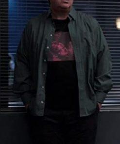 Jeremy Swift Ted Lasso Higgins Green Cotton Jacket