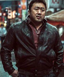 Ma Dong-seok Eternals Gilgamesh Black Leather Jacket