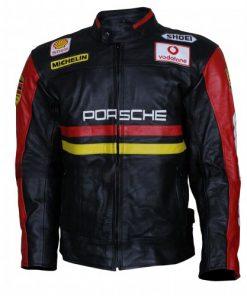 Porsche 930 Turbo Black Leather Jacket