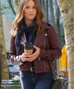 Reese Witherspoon The Morning Show Season 02 Bradley Jackson Leather Jacket-min