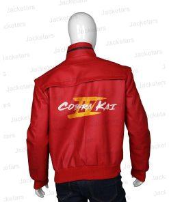 Season Four Cobra kai Red Leather Bomber Jacket