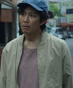 Lee Jung-Jun Squid Game Guard Grey Bomber Jacket