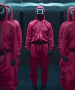TV Series Squid Game 2021 Pink Jumpsuit of Guards