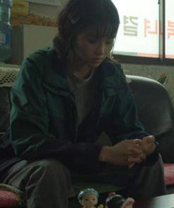 Hoyeon Jung Squid Game Kang Sae-Byeok Green Cotton Jacket