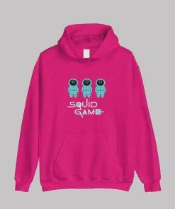 TV Series Squid Game 2021 Multi-Color Hoodie Pink