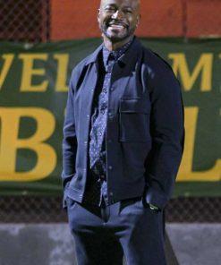 Taye Diggs All American (TV Series 2018) Billy Baker Blue Wool Jacket