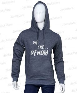 Venom We Are Venom Text Printed Halloween Hoodie