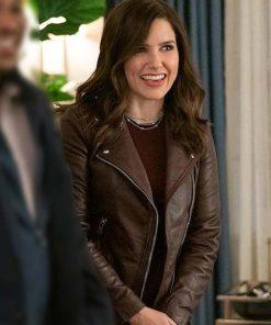 Veronica Love, Victor Sophia Bush Brown Leather Jacket