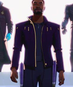 What If…? Chadwick Boseman Star Lord Purple Jacket